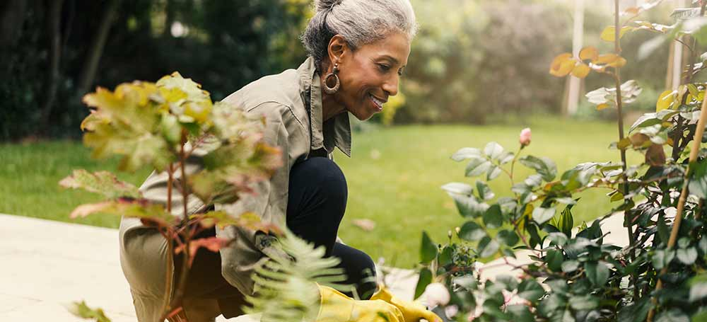 Healthy Older Lady Gardening